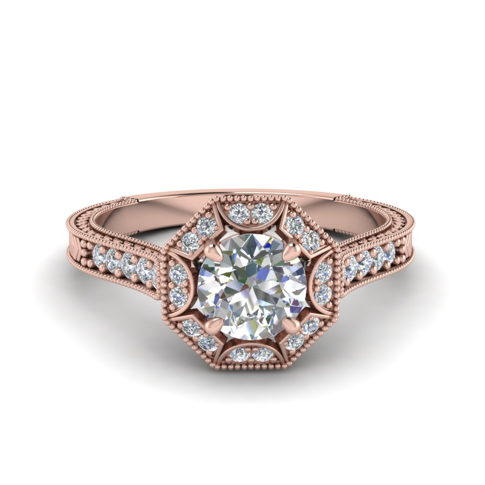 Round Cut Antique Diamond Ring