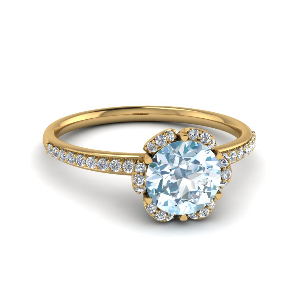 Yellow Aquamarine gold engagement rings forecast dress in on every day in 2019