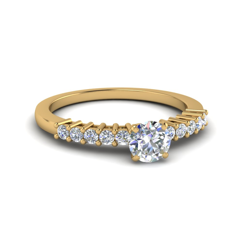 Petite Basket Diamond Ring