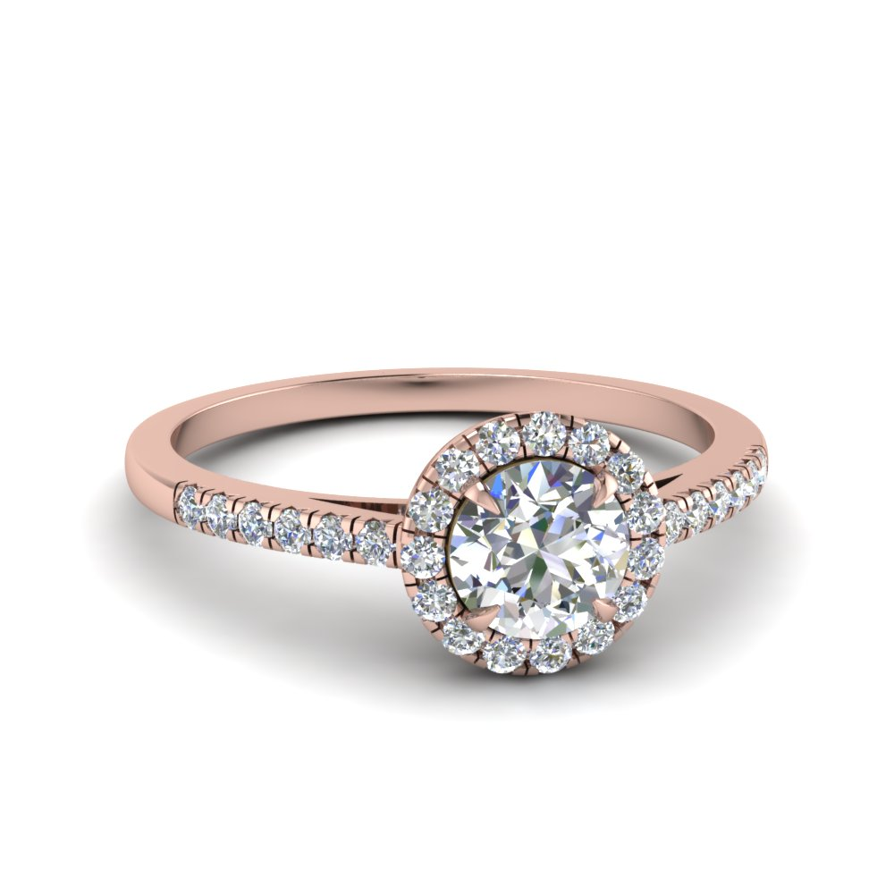 Beautiful French Pave Halo Ring