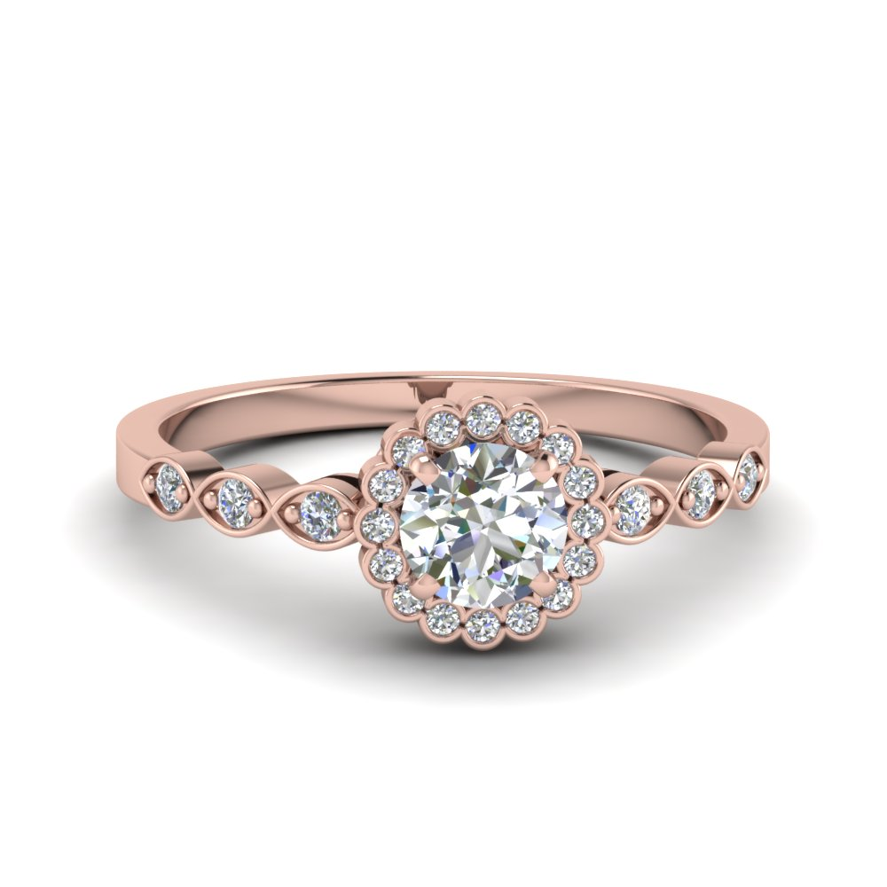 Floral Curvature Diamond Ring