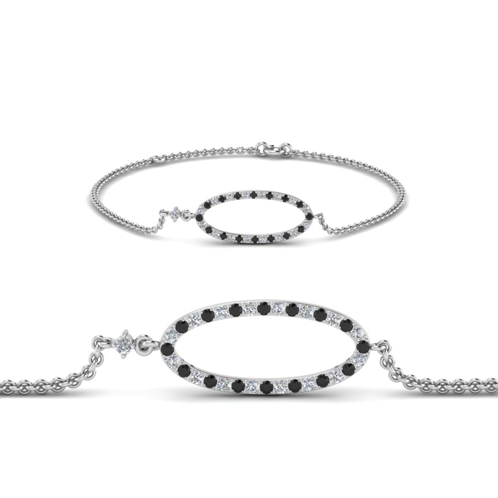 black diamond oval link bracelet in FDBR1001GBLACK NL WG.jpg