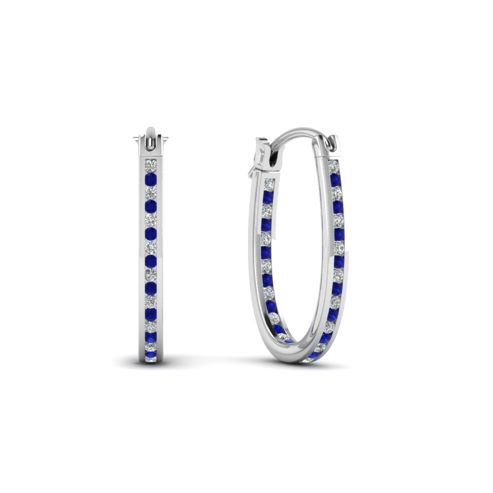 round-cut-blue-sapphire-hoops-earrings-with-white-diamond-in-14K-white-gold-FDEAR62190GSABL-NL-WG