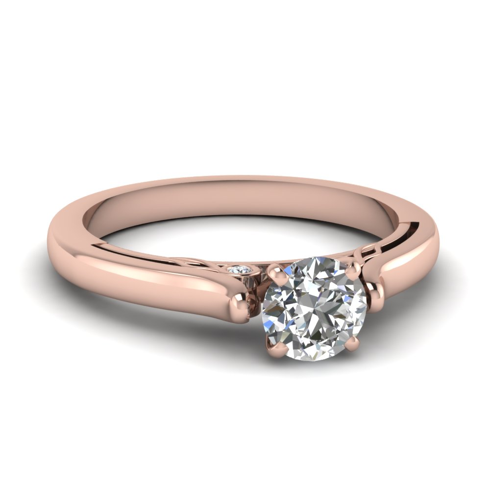 round cut diamond cathedral rose gold engagement ring FDENS2000ROR NL RG.jpg