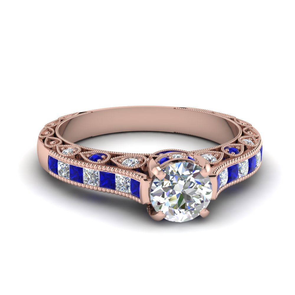 cathedral vintage style round diamond engagement ring with sapphire in FDENR6819RORGSABL NL RG.jpg
