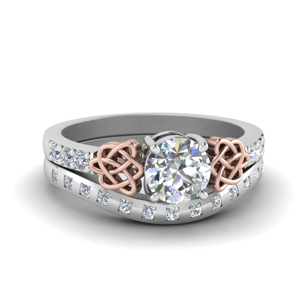 Celtic Diamond Ring And Matching Band