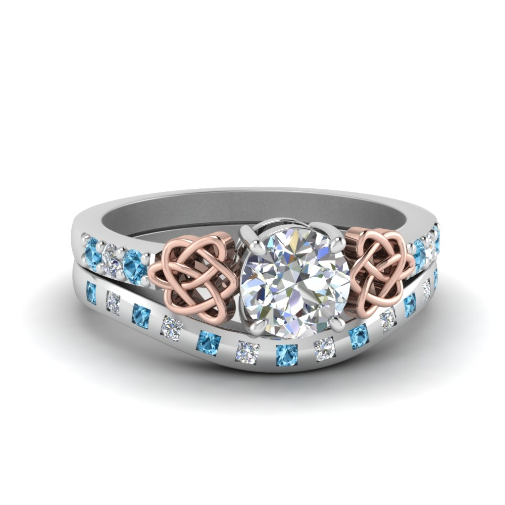 Celtic Diamond Ring & Matching Band