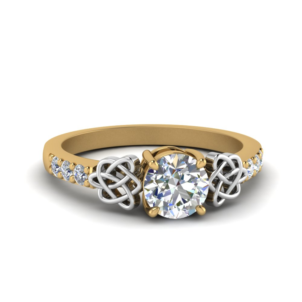 Celtic Round Cut Diamond Ring