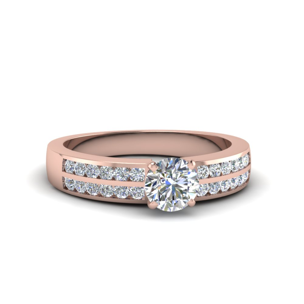 Round Cut Channel Set Diamond Ring