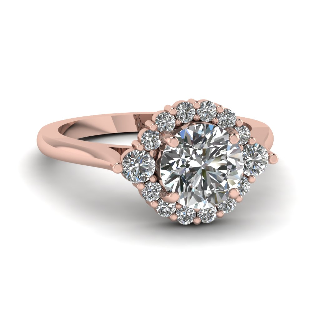 3/4 Ct. Round Cut Diamond Engagement Ring For Her
