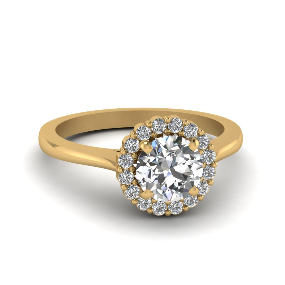 Delicate Diamond Ring With Halo