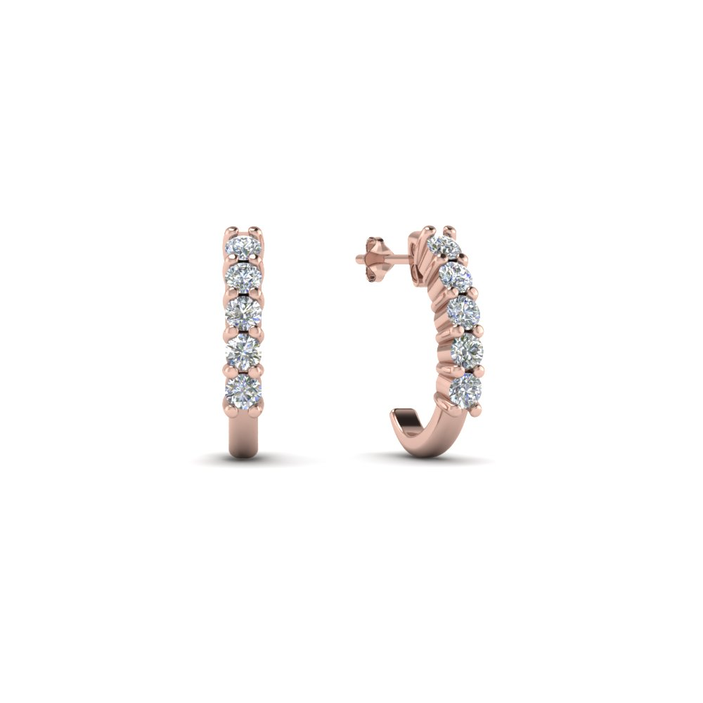 half-huggie-diamond-hoop-earring-in-18K-rose-gold-FDEAR40640-NL-RG