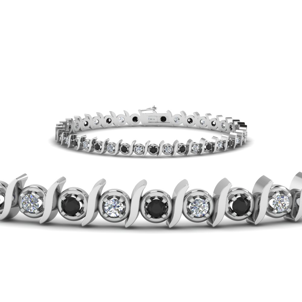 Timeless Tennis Black Diamond Bracelet