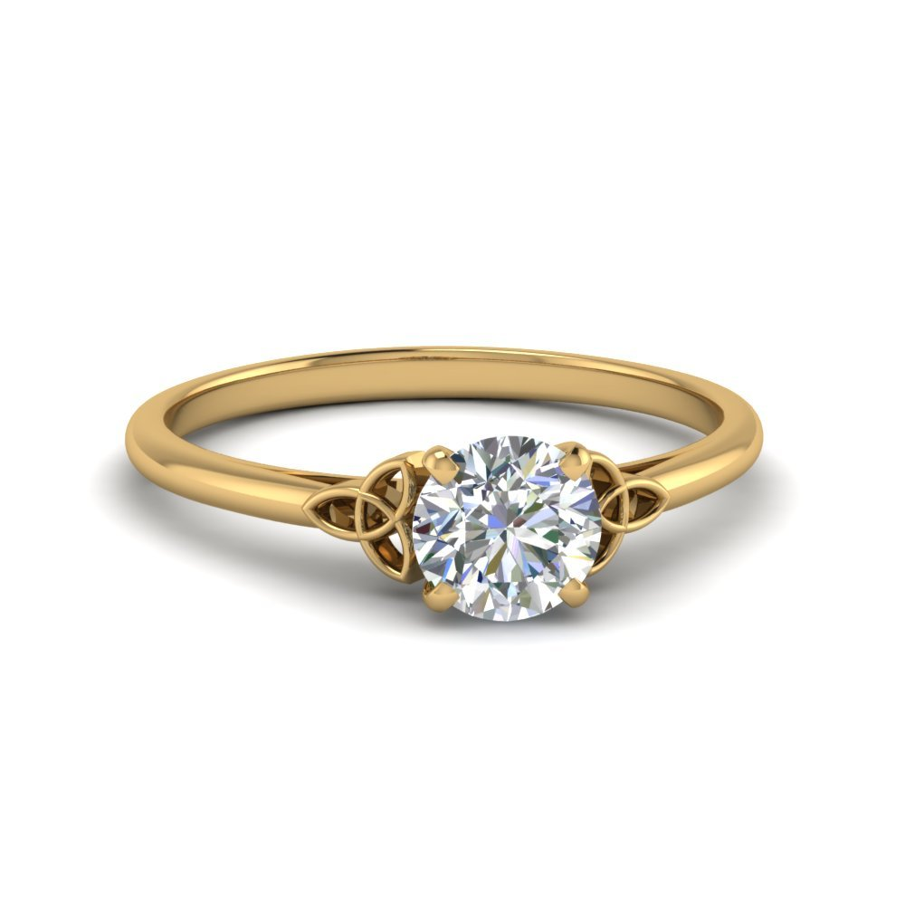 Round Cut Solitaire Diamond Rings