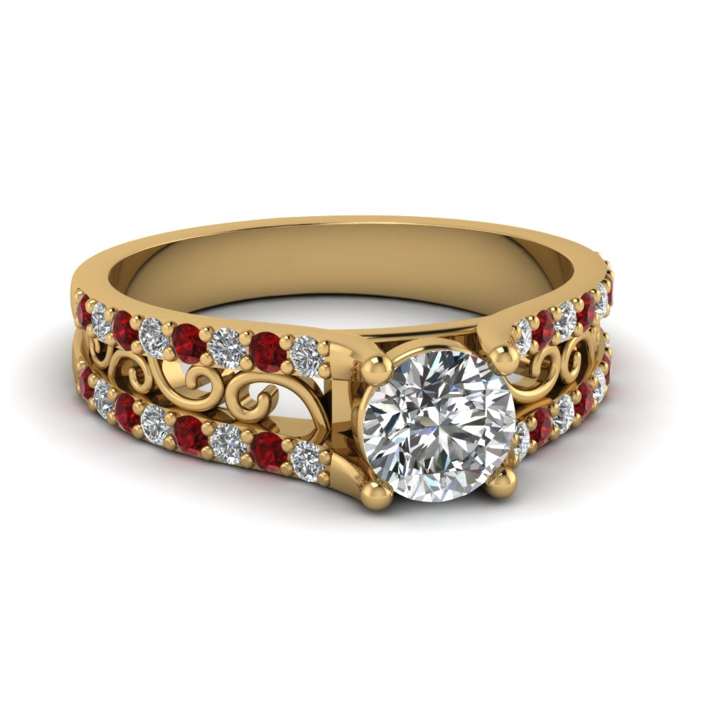 ru style antique ruby vintage ring diamond engagement unique rings