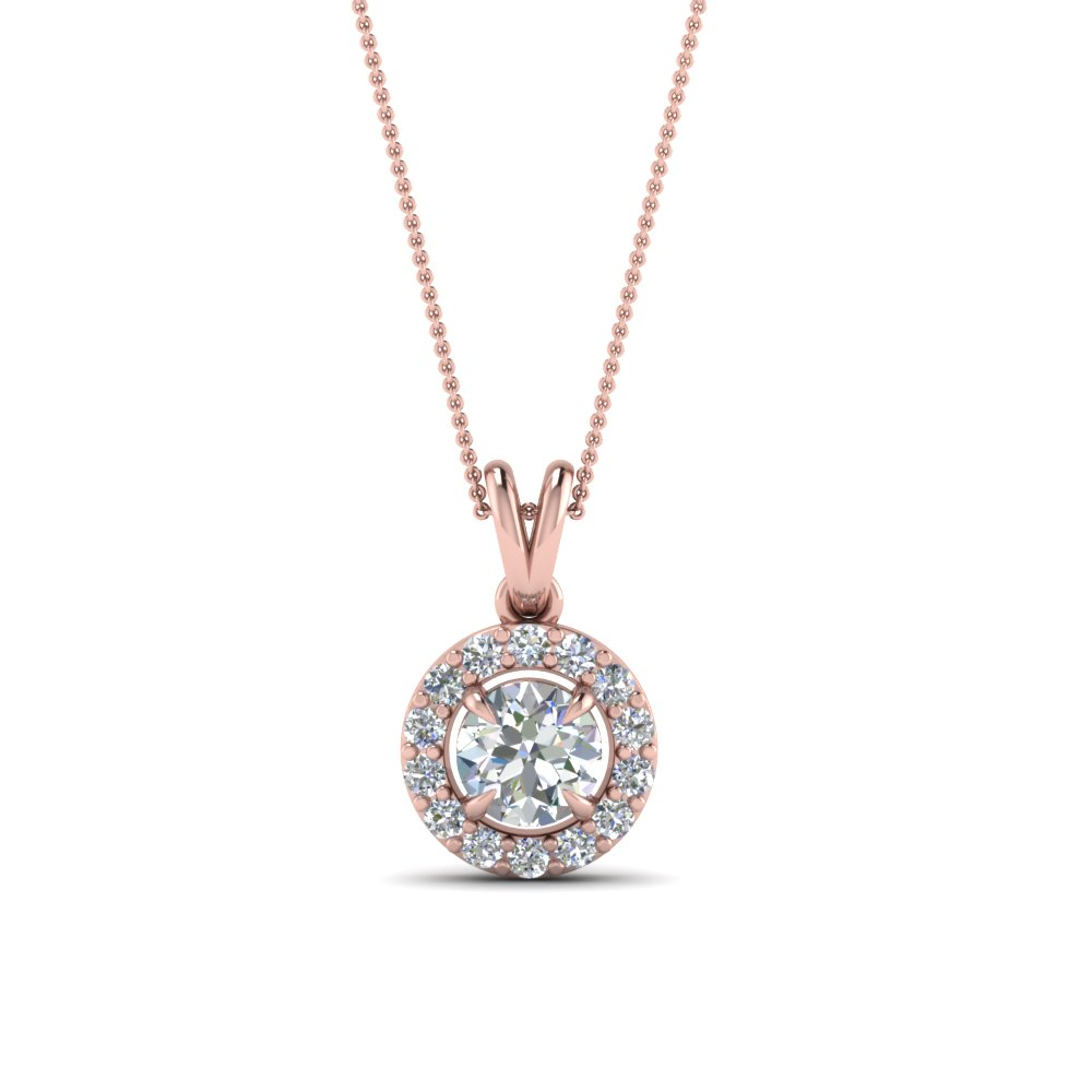 Pick classy fancy pendants online fascinating diamonds halo diamond pendant for women in fdpd1188ro nl rg aloadofball Image collections