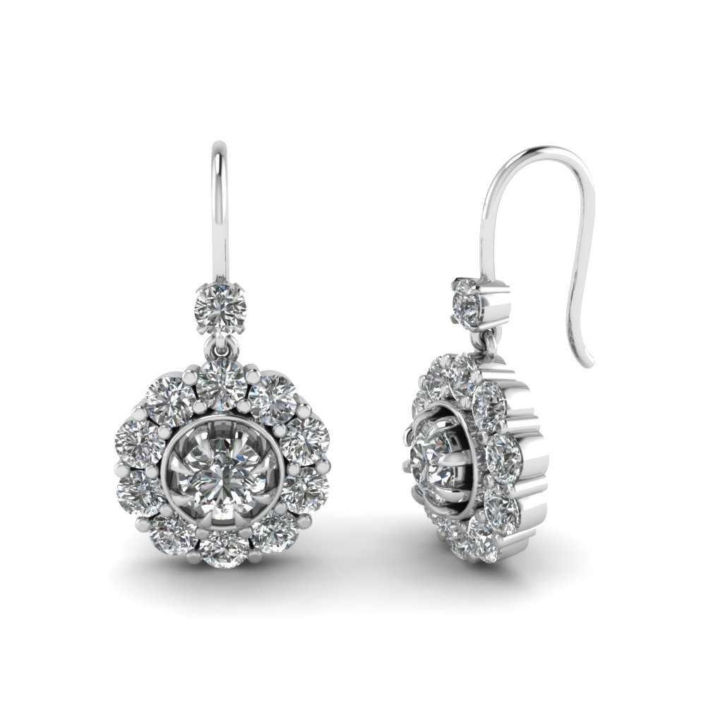 floral drop diamond dangle earring in FDEAR1128 NL WG.jpg