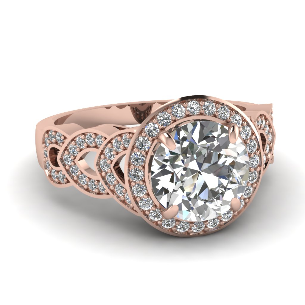 Antique Diamond Ring With  Yellow White And Rose Gold