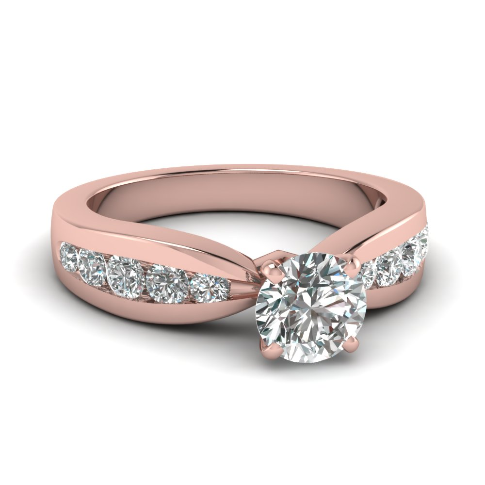 Round With Side Stone Engagement Ring