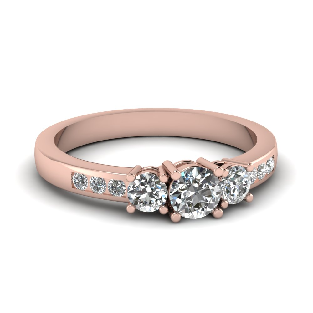 Rose Gold Channel Set Diamond Ring