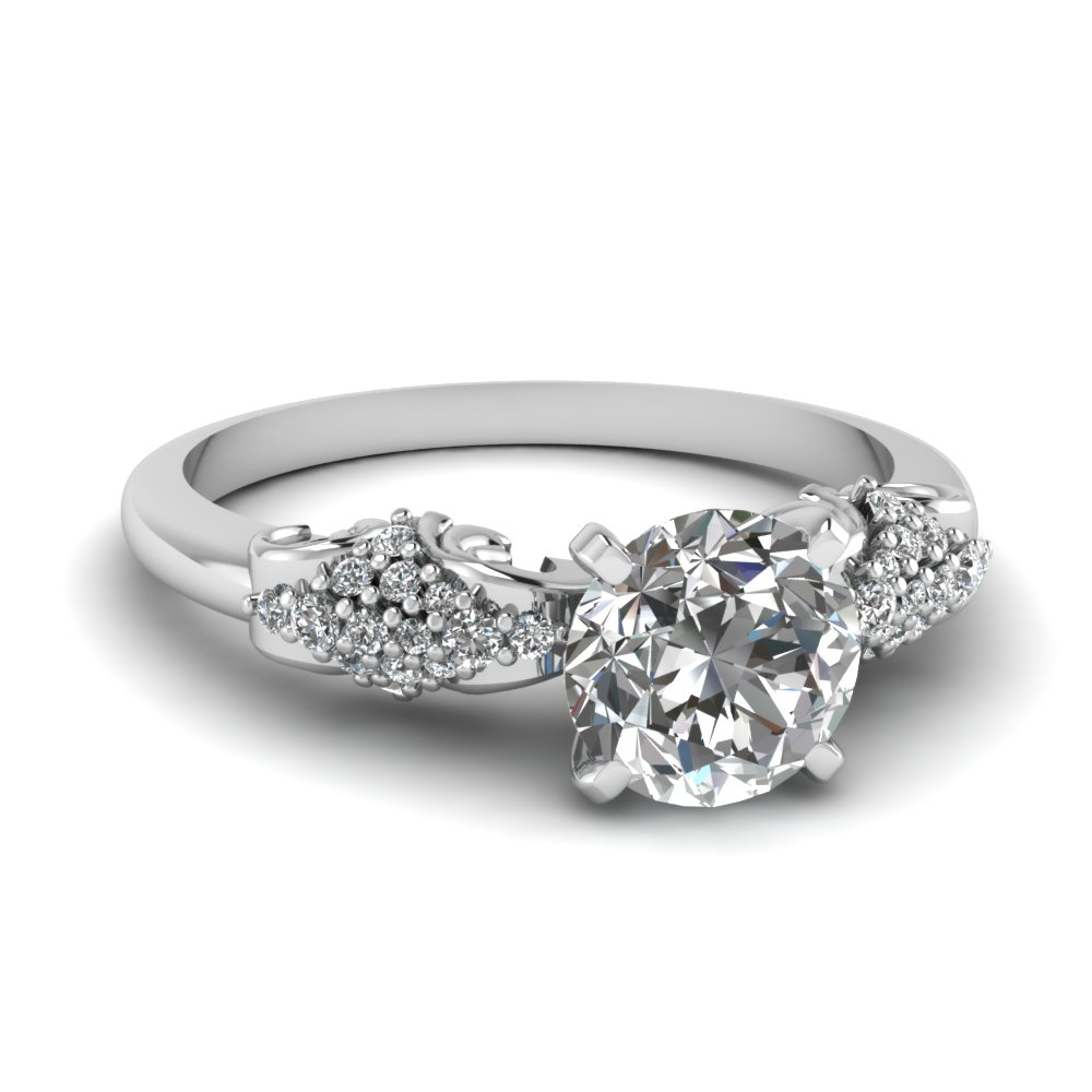 Micropave Old Fashioned Diamond Rings