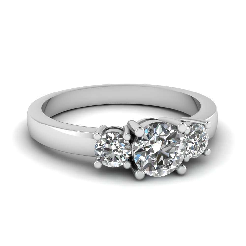 Round Diamond Trio Ring