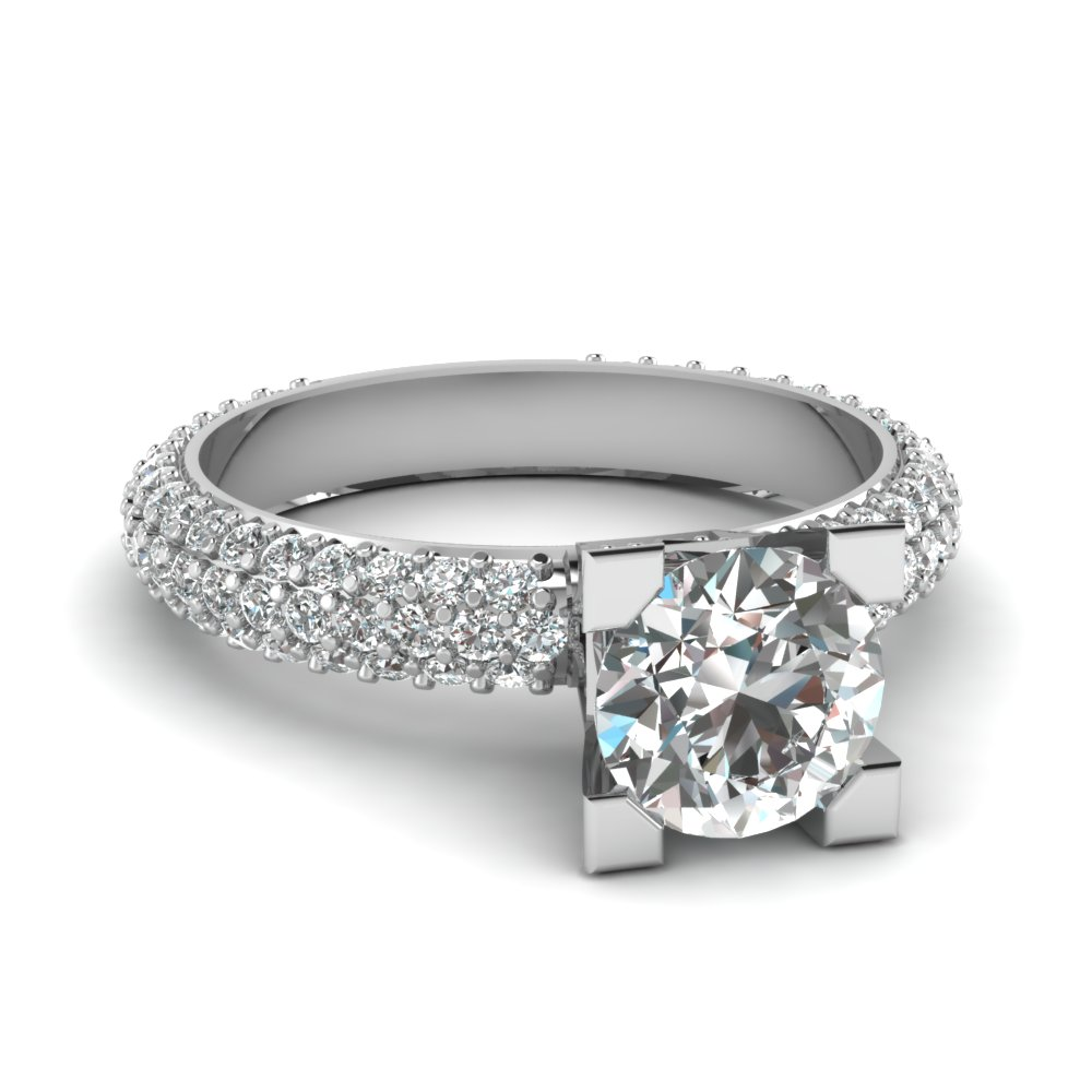 Elegant Engagement Rings in 14K white gold FDENR7533ROR NL WG