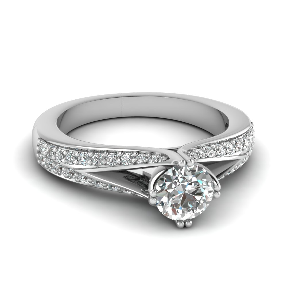 Micropave Shank Diamond Ring