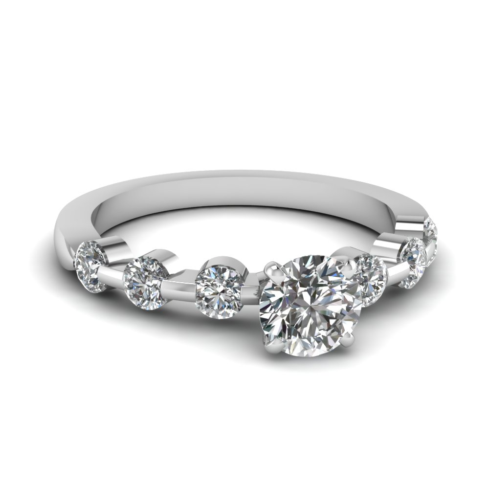 0.50 Ct Round Cut Diamond Ring For Her