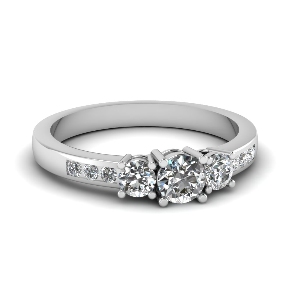 3 stone channel set engagement ring in FD1134R NL WG