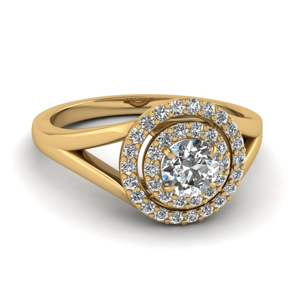 Look sophisticated with Double Halo Engagement Rings Fascinating