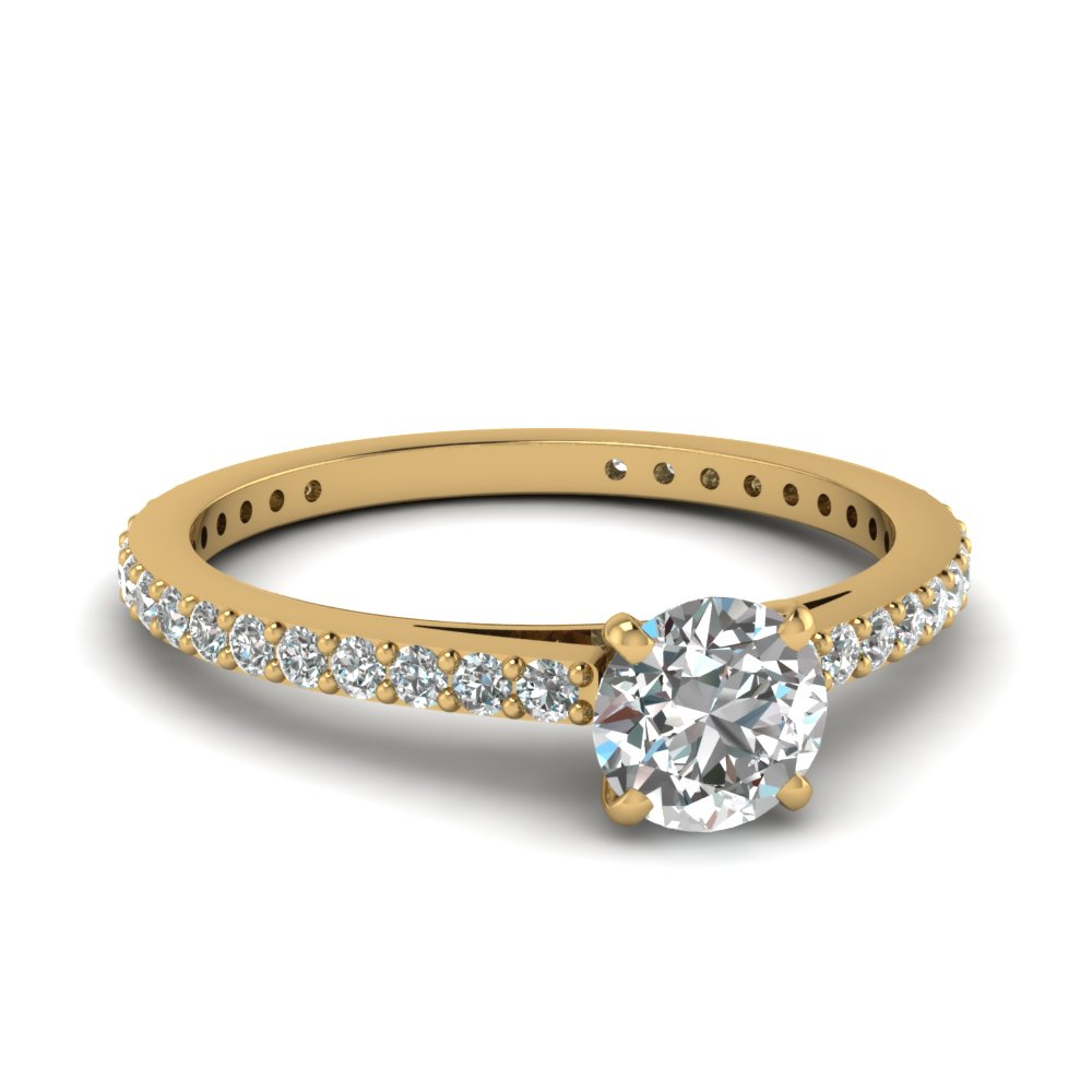 round-cut-diamond-engagement-ring-in-14K-yellow-gold-FDENS1425ROR-NL-YG