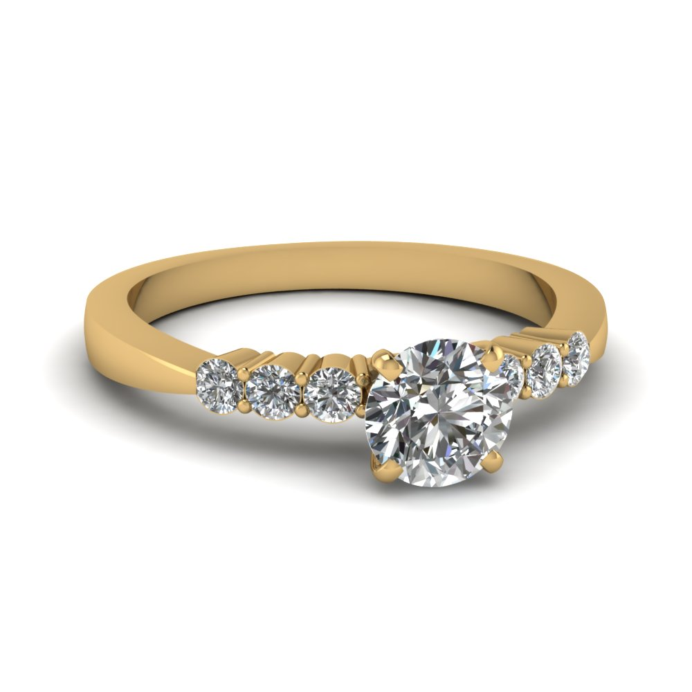 0.50 carat diamond petite engagement ring in FDENS750ROR NL YG