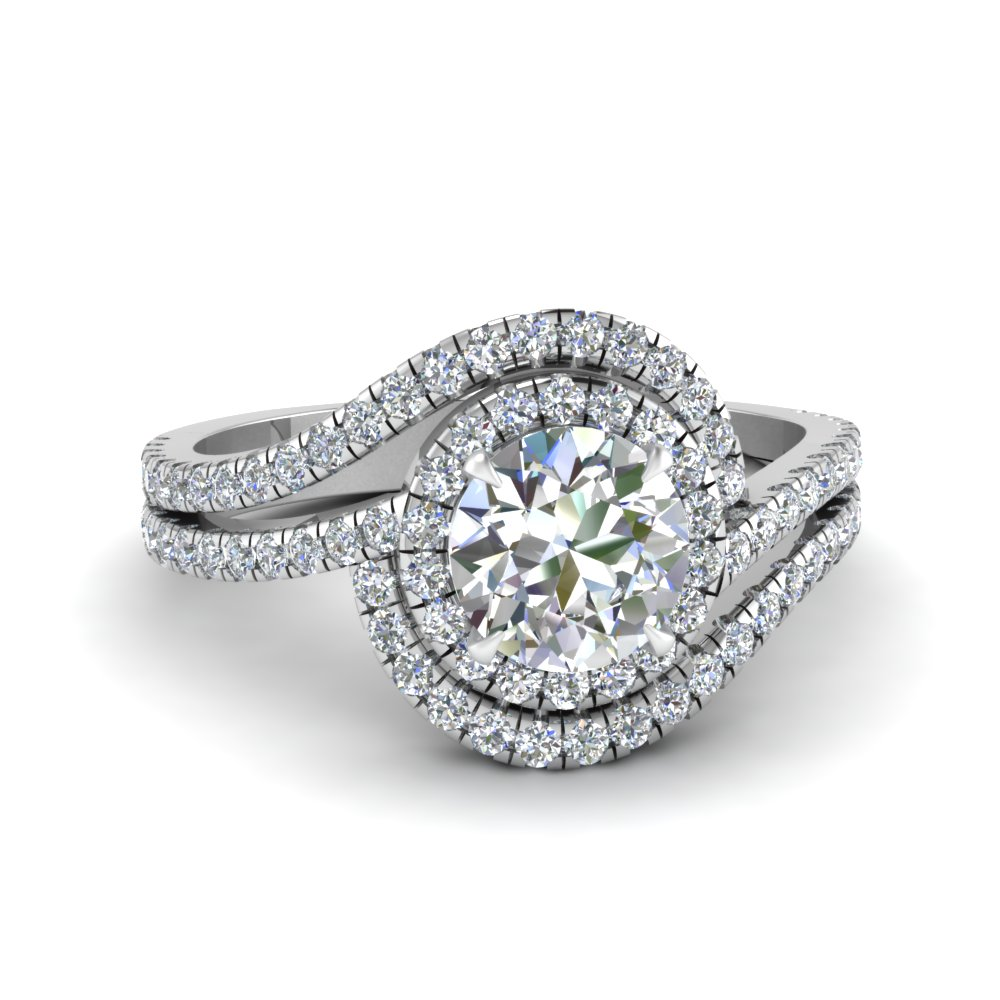 bypass halo diamond engagement ring in FDENS3258ROR NL WG