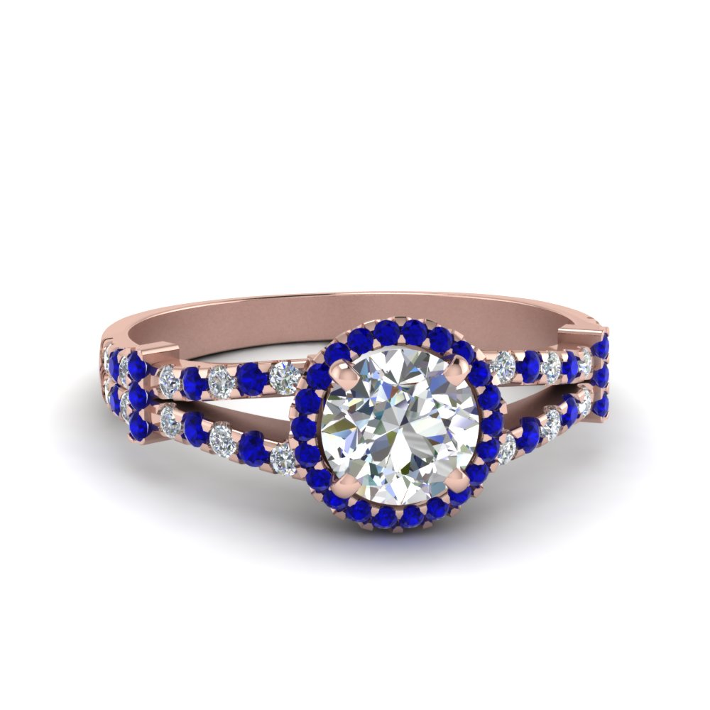 French Pave Split Halo Ring