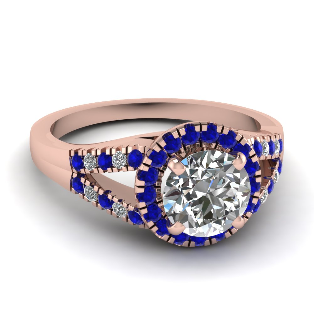 round-cut-diamond-engagement-ring-with-blue-sapphire-in-14K-rose-gold-FDENS3156RORGSABL-NL-RG