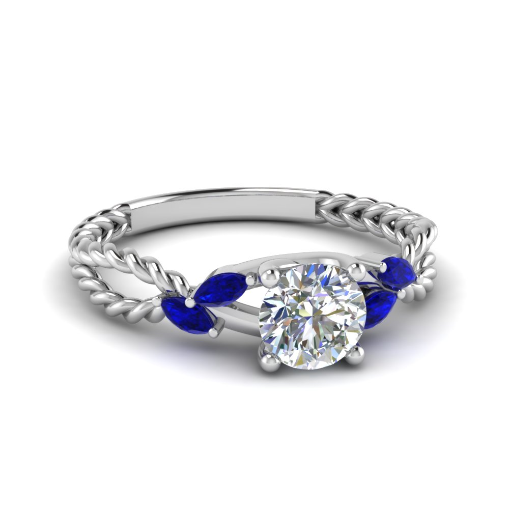 sapphire braided round cut diamond engagement ring in FD1099RORGSABL NL WG.jpg