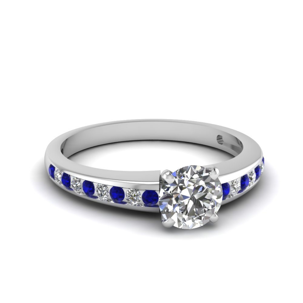 round channel diamond with sapphire ring in FDENS3018RORGSABL NL WG