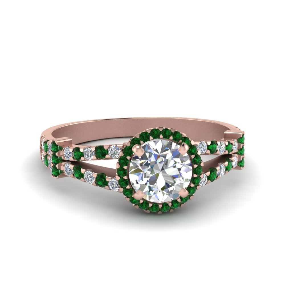 French Pave Floating Halo Ring