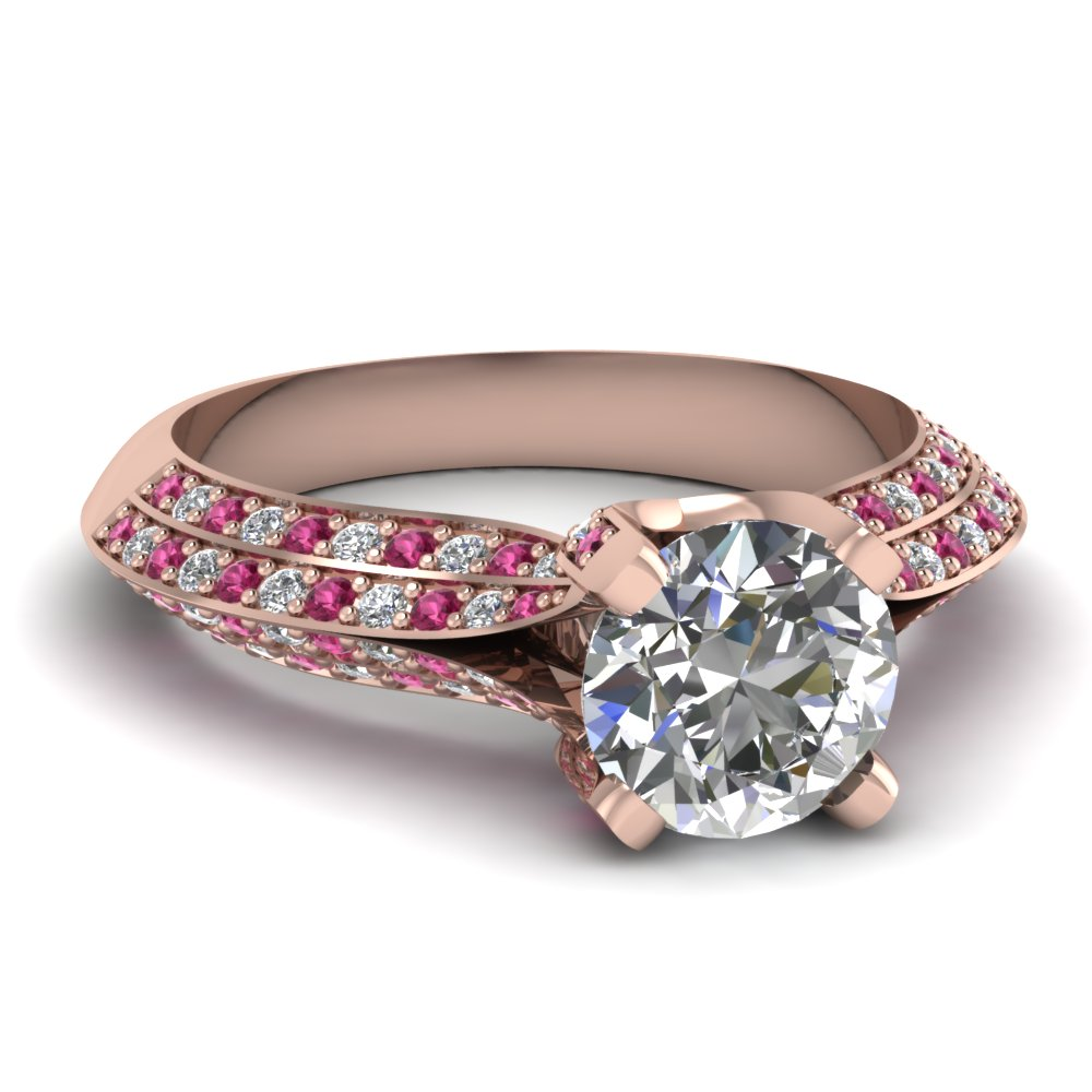 Have A look At Our Pink Sapphire Split Shank Engagement Rings