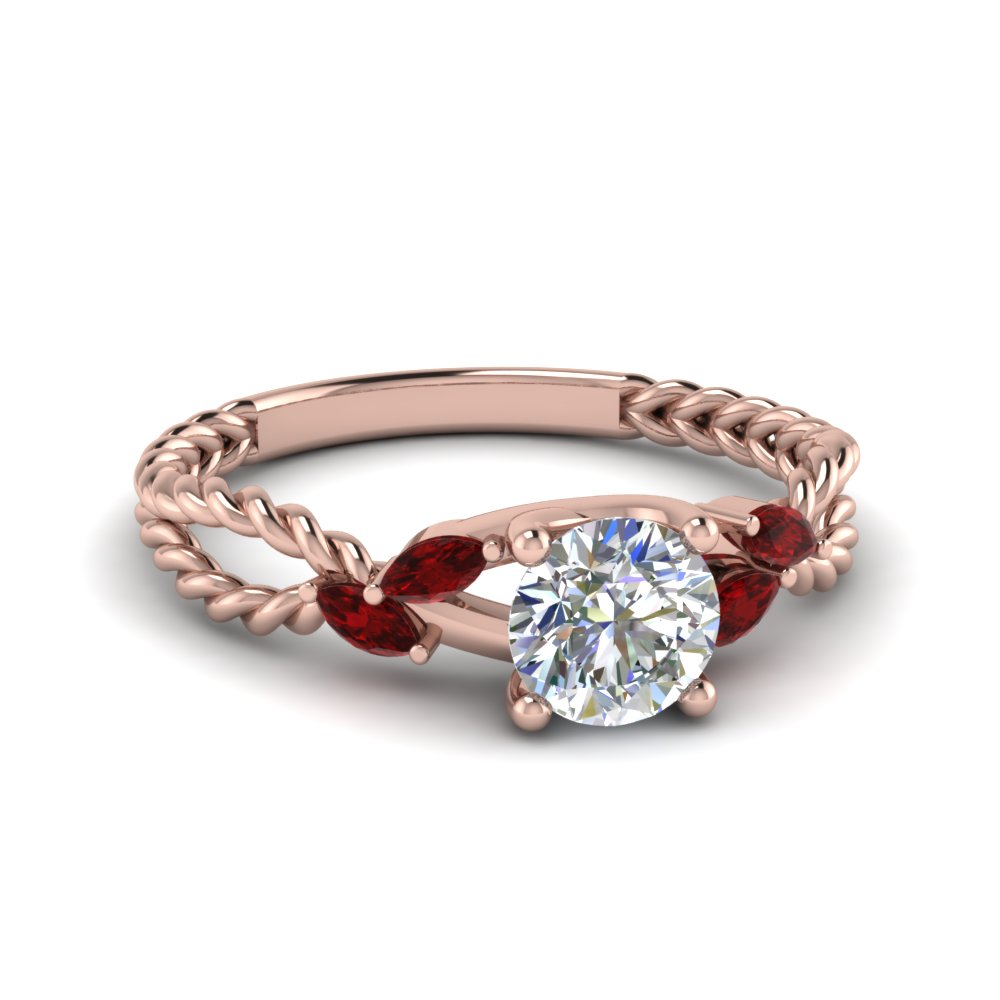 Braided Ruby Engagement Ring