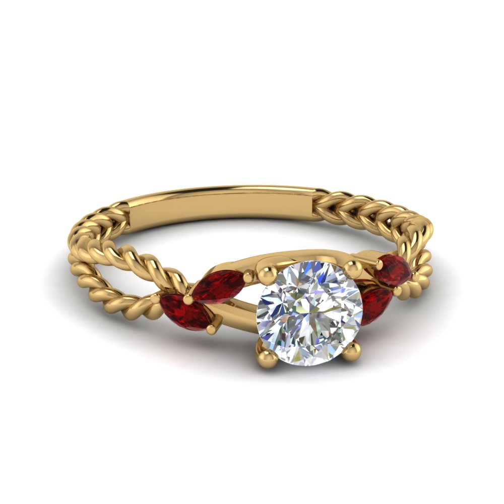 ruby braided round cut engagement ring in FD1099RORGRUDR NL YG.jpg