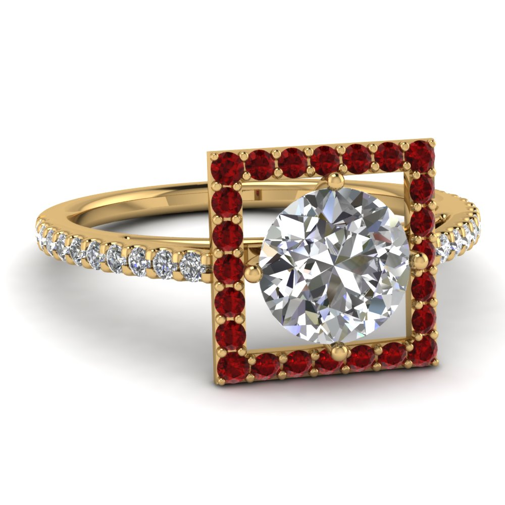round-cut-diamond-engagement-ring-with-red-ruby-in-14K-yellow-gold-FD121864RORGRUDR-NL-YG
