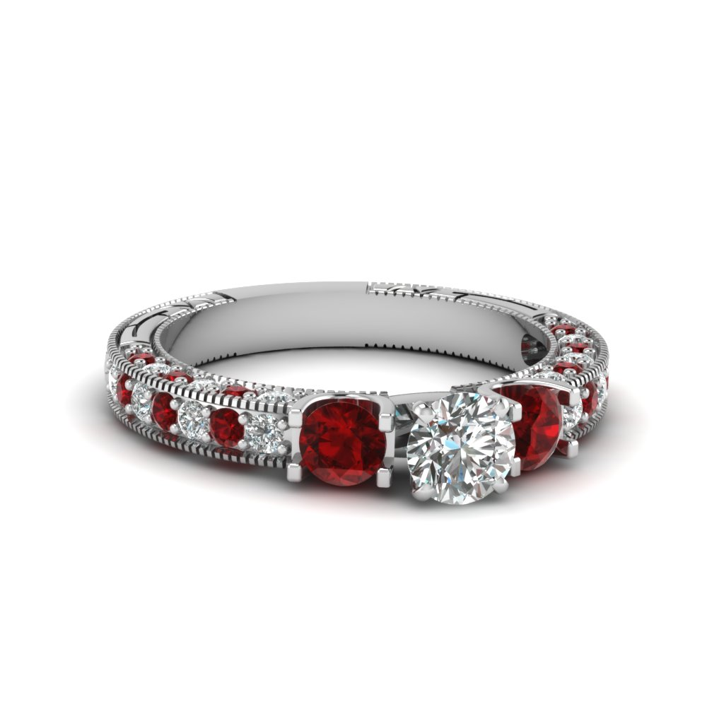 3 Stone Diamond Wedding Ring