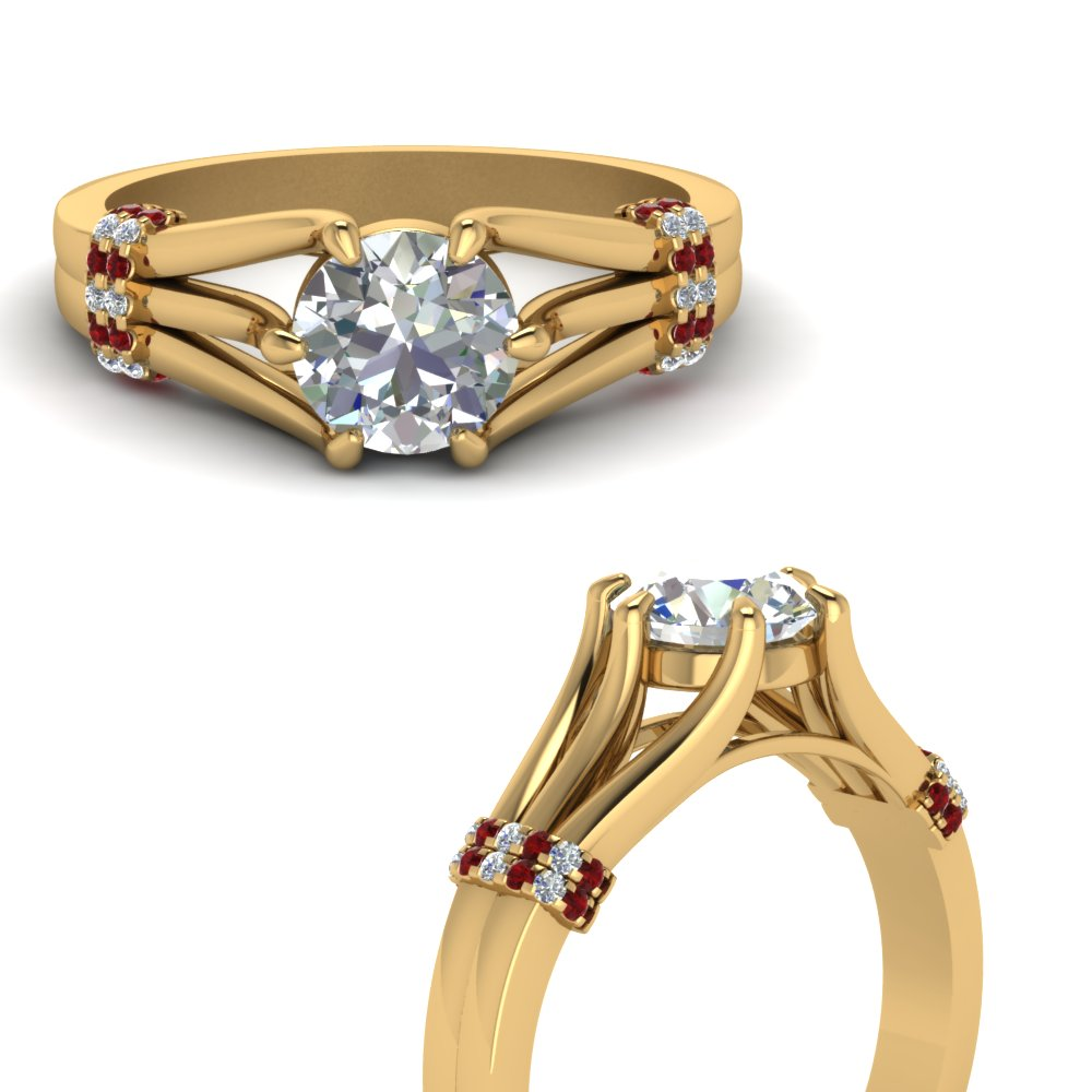 6 Prong Round Engagement Ring