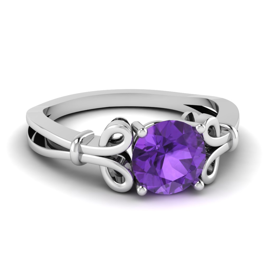 Gemstone Engagement Ring For Her