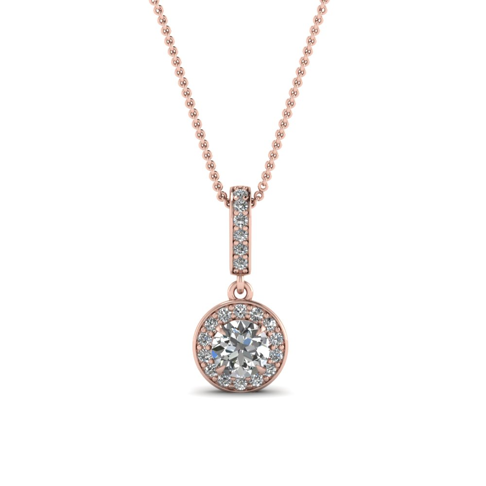 Halo Round Diamond Pendant