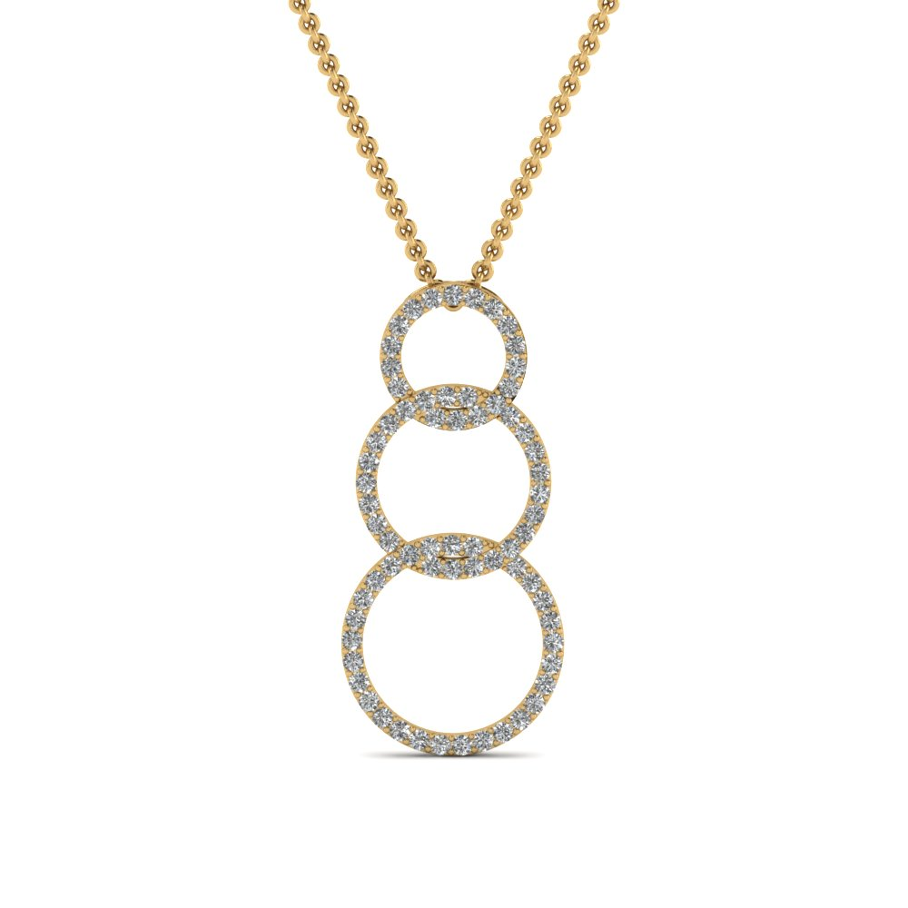 Round Cut Diamond Fancy Pendant