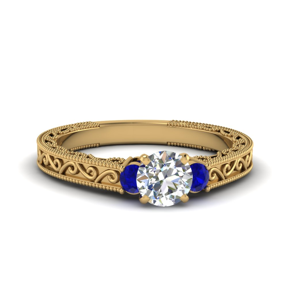 Filigree Three Stone Ring