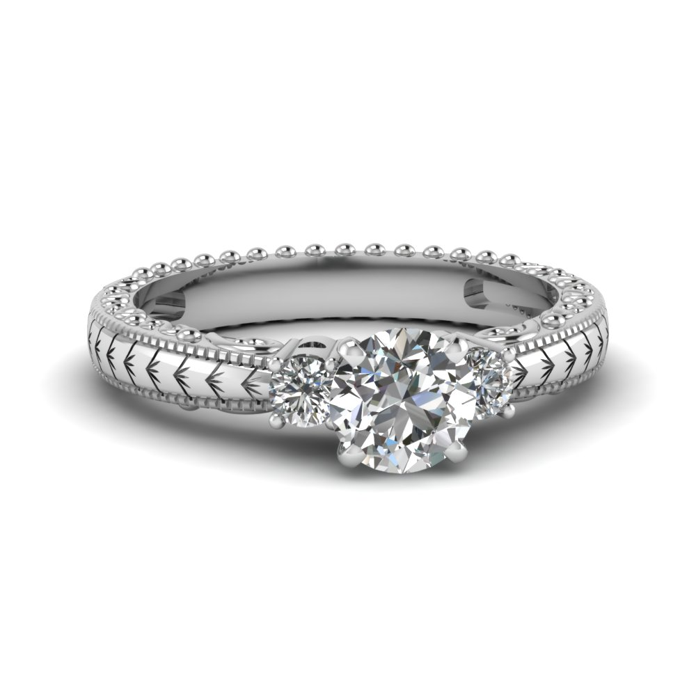 1/2 Carat Round Cut Diamond Ring For Her